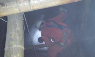 中特创业公司完成三台加氢反应器内外壁检测