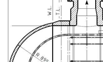 腾龙案例1——不等厚削边封头根部缺陷判定