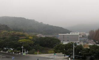 雾里的大榭岛—宁波